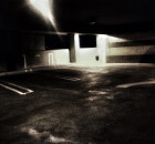 One of my thinking corners: the empty garage at work in downtown ABQ. Dark. Foreboding. Kinda eerie. and full of muse!
